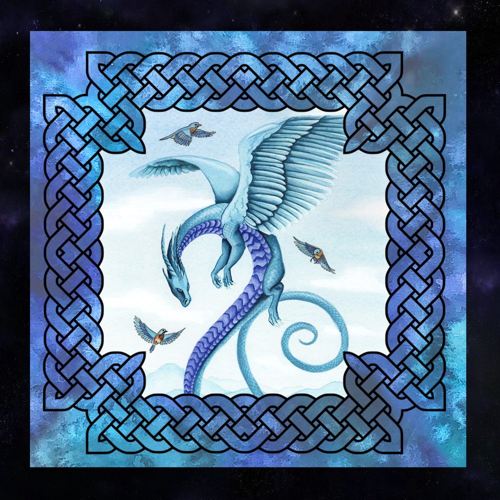 Dragon Oracle: Air Dragon Tarot Wrap/Altar Cloth