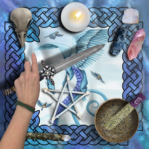 Load image into Gallery viewer, Dragon Oracle: Air Dragon Tarot Wrap/Altar Cloth