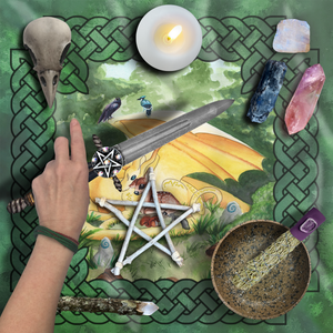 Load image into Gallery viewer, Dragon Oracle: Sunshine Yellow Dragon Tarot Wrap/Altar Cloth