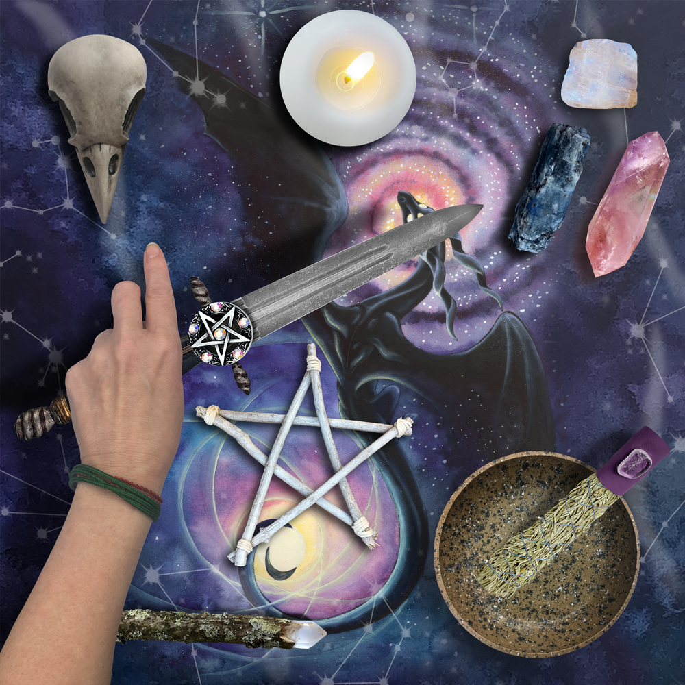 Load image into Gallery viewer, Mistress of Infinity Tarot Wrap/Altar Cloth