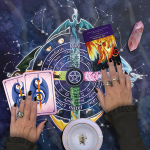 Load image into Gallery viewer, Pagan Wheel of the Year Tarot Wrap/Altar Cloth