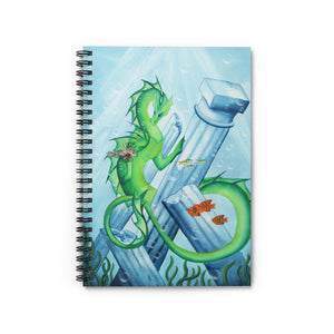 Load image into Gallery viewer, Dragon Oracle: Water Dragon Spiral Notebook - Ruled Line