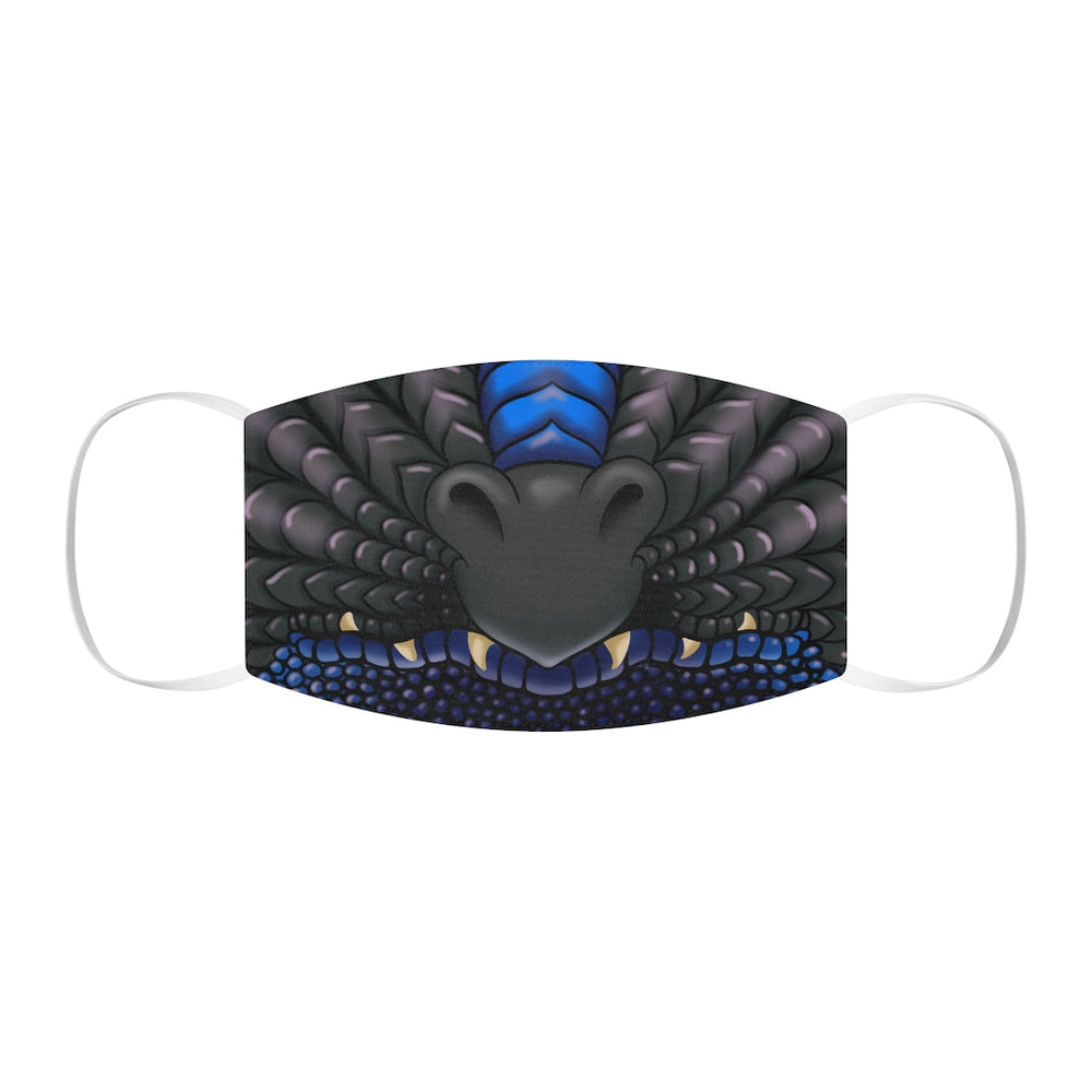 Black and Blue Two Color Dragon Snout Snug-Fit Polyester Face Mask