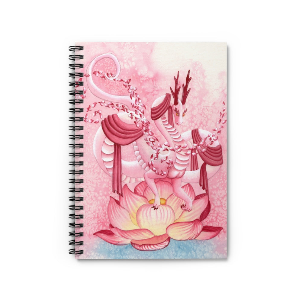 Dragon Oracle: Quan Yin Dragon Spiral Notebook - Ruled Line