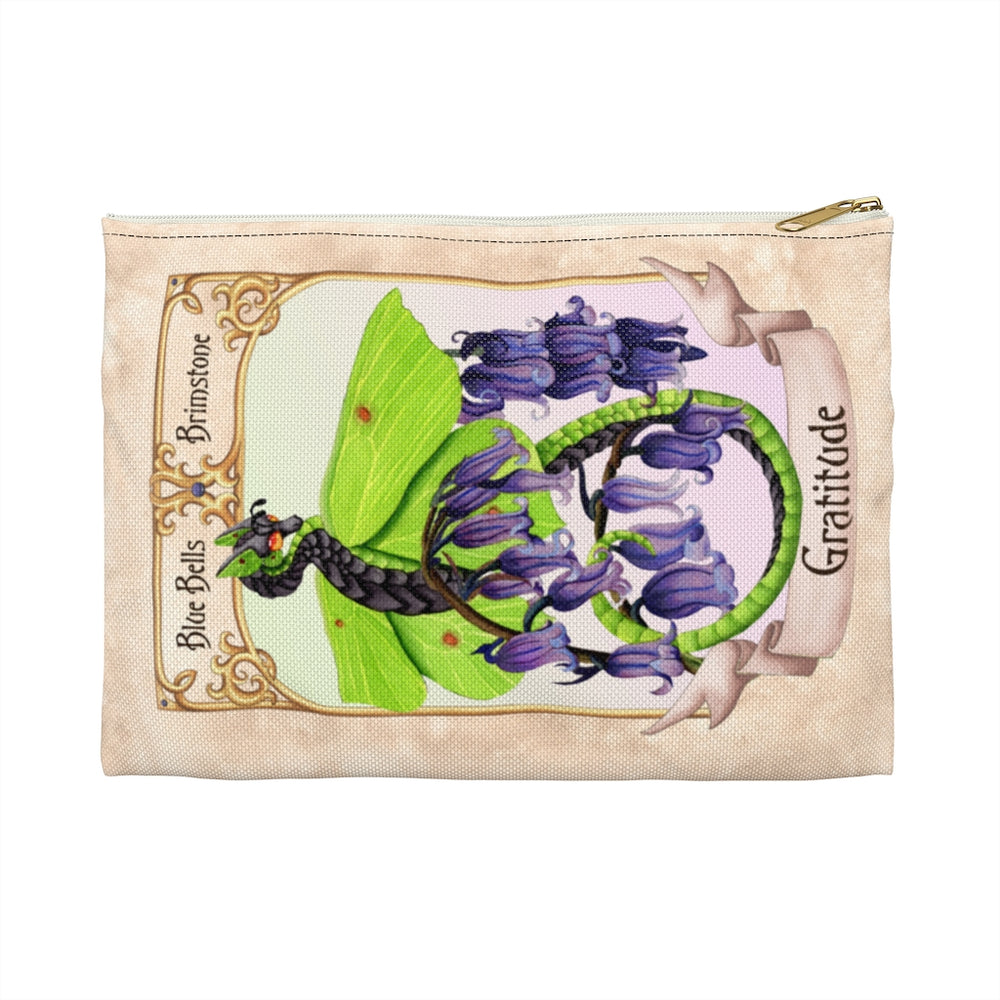 Enchanted Blossoms: Gratitude Dragon Accessory Pouch