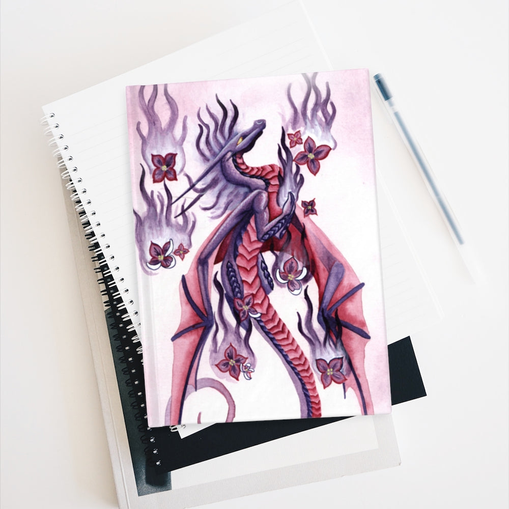 Load image into Gallery viewer, Dragon Oracle: Lilac Fire Dragon Unlined Journal