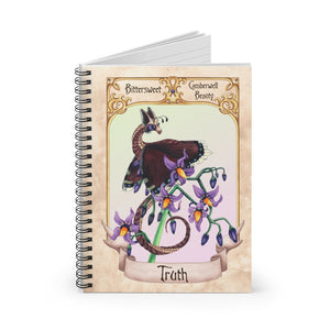 Load image into Gallery viewer, Enchanted Blossoms: Truth Dragon Spiral Notebook - Ruled Line