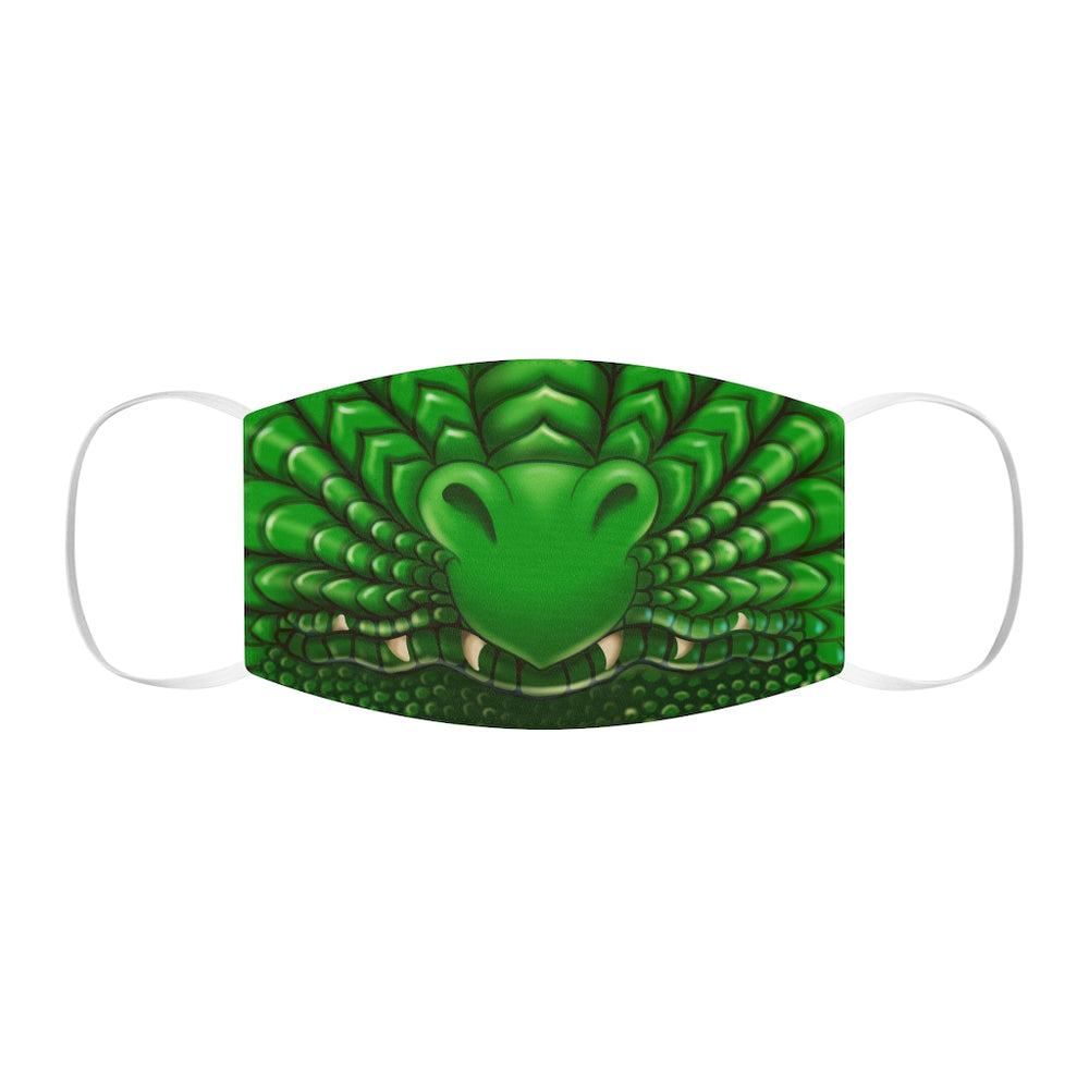 Green Dragon Snout Snug-Fit Polyester Face Mask