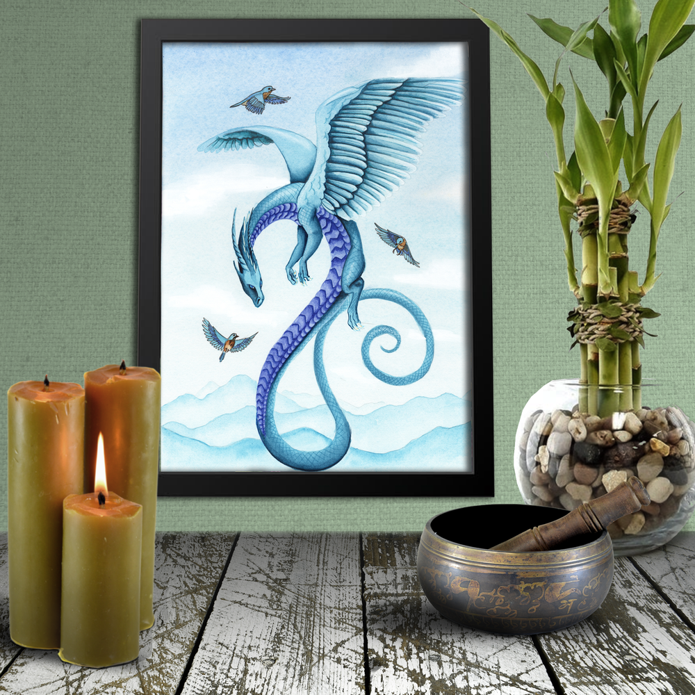 Load image into Gallery viewer, Dragon Oracle: Air Giclée Print
