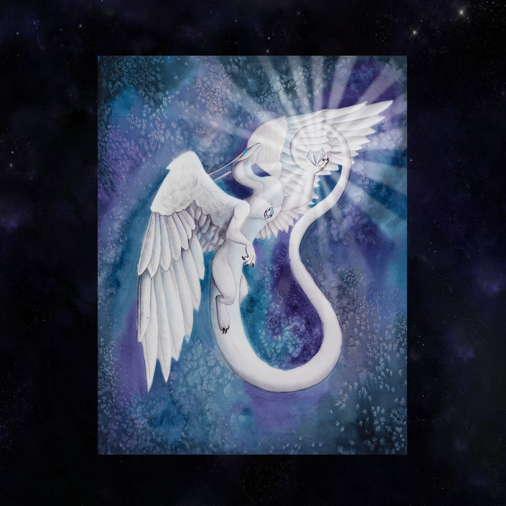 Dragon Oracle: Archangel Gabriel's Giclée Print