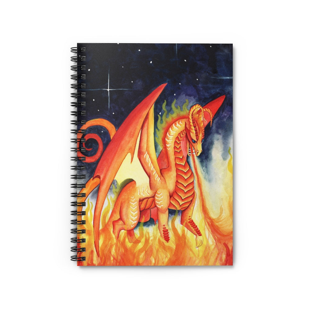 Dragon Oracle: Fire Dragon Spiral Notebook - Ruled Line