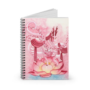 Load image into Gallery viewer, Dragon Oracle: Quan Yin Dragon Spiral Notebook - Ruled Line