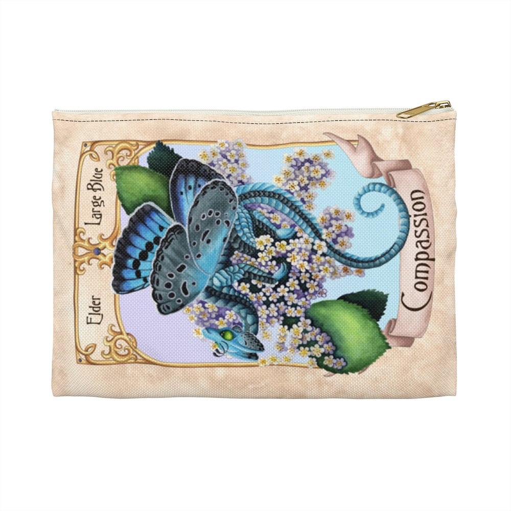 Enchanted Blossoms: Compassion Dragon Accessory Pouch