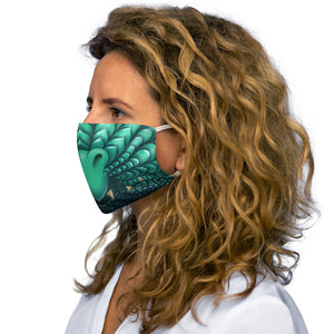 Load image into Gallery viewer, Teal Dragon Snout Snug-Fit Polyester Face Mask