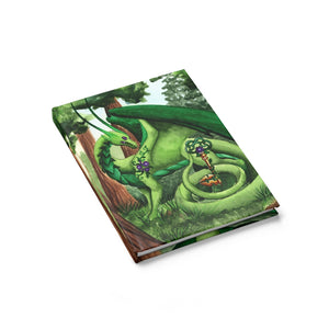 Load image into Gallery viewer, Dragon Oracle: Green Dragon Rule Lined Journal