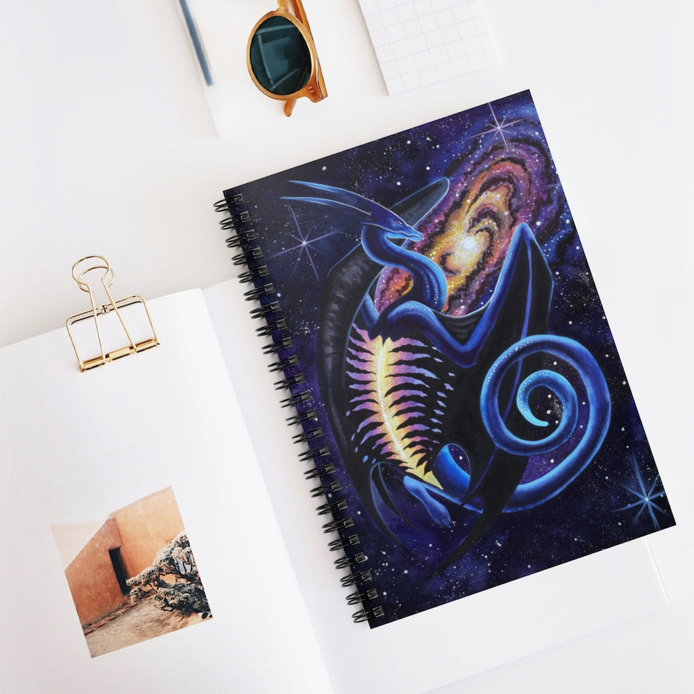 Load image into Gallery viewer, Galactic Entrancement Spiral Notebook - Ruled Line