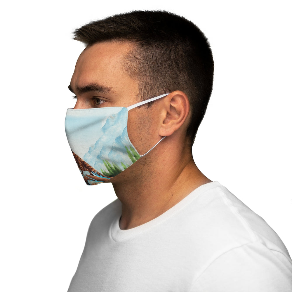 Load image into Gallery viewer, Dragon Oracle Earth Dragon Snug-Fit Polyester Face Mask