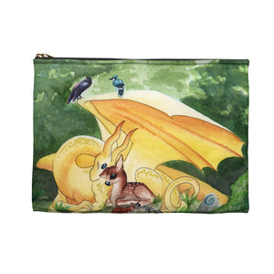 Load image into Gallery viewer, Dragon Oracle Sunshine Yellow Dragon Accessory Pouch