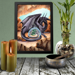 Load image into Gallery viewer, Dragon Oracle: Black Dragon Giclée Print