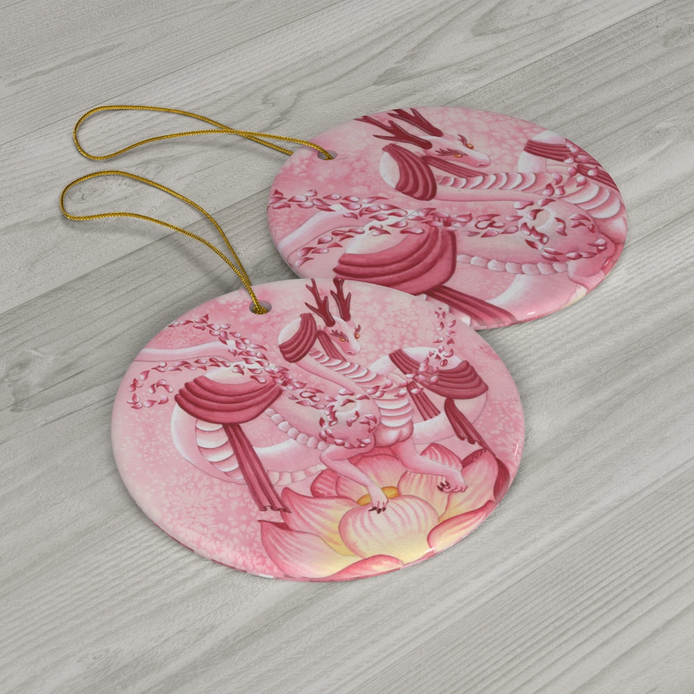 Load image into Gallery viewer, Dragon Oracle Quan Yin Dragon Ceramic Ornaments