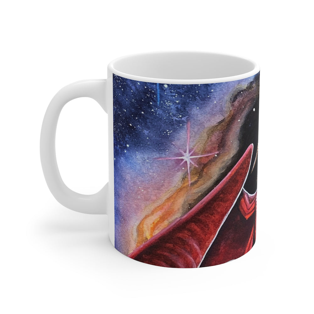 Load image into Gallery viewer, Watcher at the Divine Gateway (Full Wrap) 11oz Mug