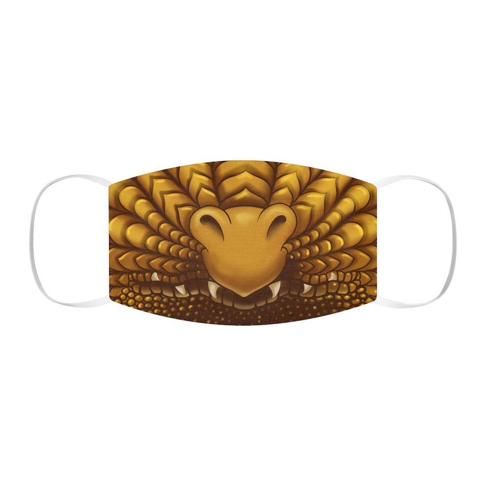 Gold Dragon Snout Snug-Fit Polyester Face Mask