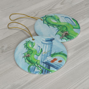 Load image into Gallery viewer, Dragon Oracle Water Dragon Ceramic Ornaments