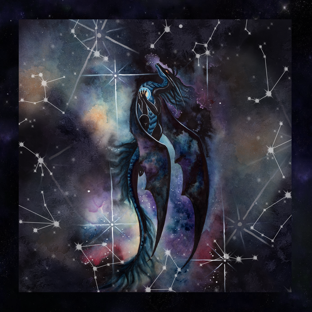 Carried By Darkness Tarot Wrap/Altar Cloth