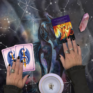 Load image into Gallery viewer, Carried By Darkness Tarot Wrap/Altar Cloth