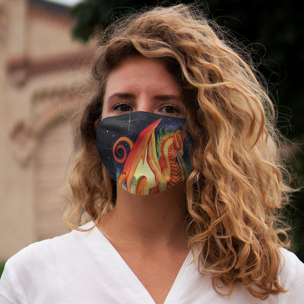 Load image into Gallery viewer, Dragon Oracle Fire Dragon Snug-Fit Polyester Face Mask