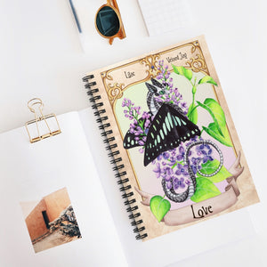 Load image into Gallery viewer, Enchanted Blossoms: Love Dragon Spiral Notebook - Ruled Line