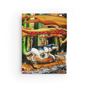 Load image into Gallery viewer, Running Free Golden Dragon Unlined Journal