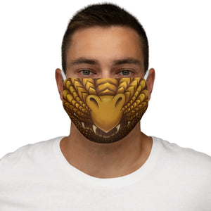 Load image into Gallery viewer, Gold Dragon Snout Snug-Fit Polyester Face Mask