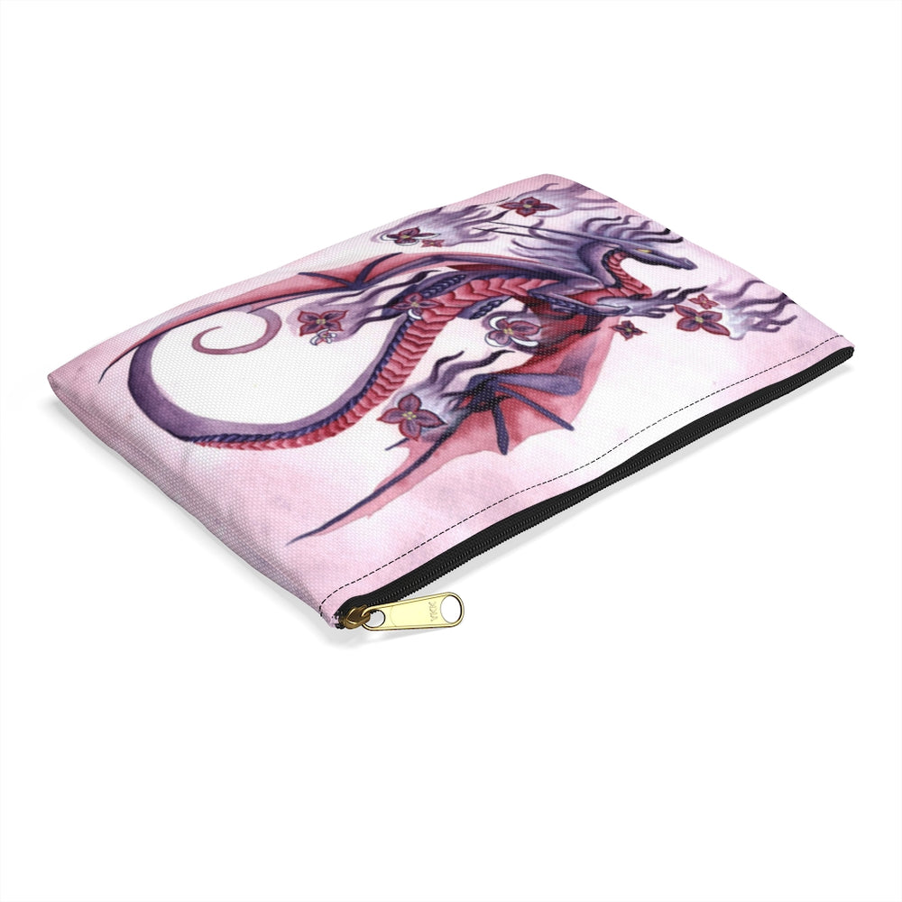 Load image into Gallery viewer, Dragon Oracle Lilac Fire Dragon Accessory Pouch