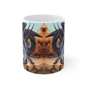 Load image into Gallery viewer, Dragon Oracle: Black Dragon 11oz Mug