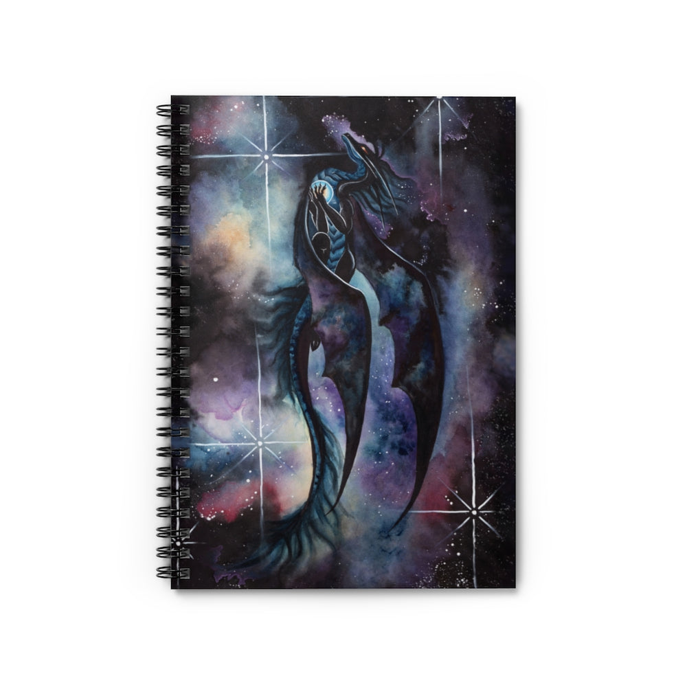 Carried By Darkness Dragon Spiral Notebook - Ruled Line