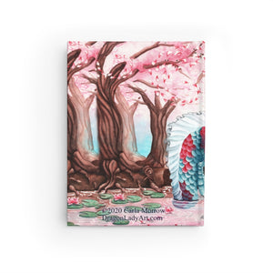 Load image into Gallery viewer, Cherry Blossom Breezes Lined Journal