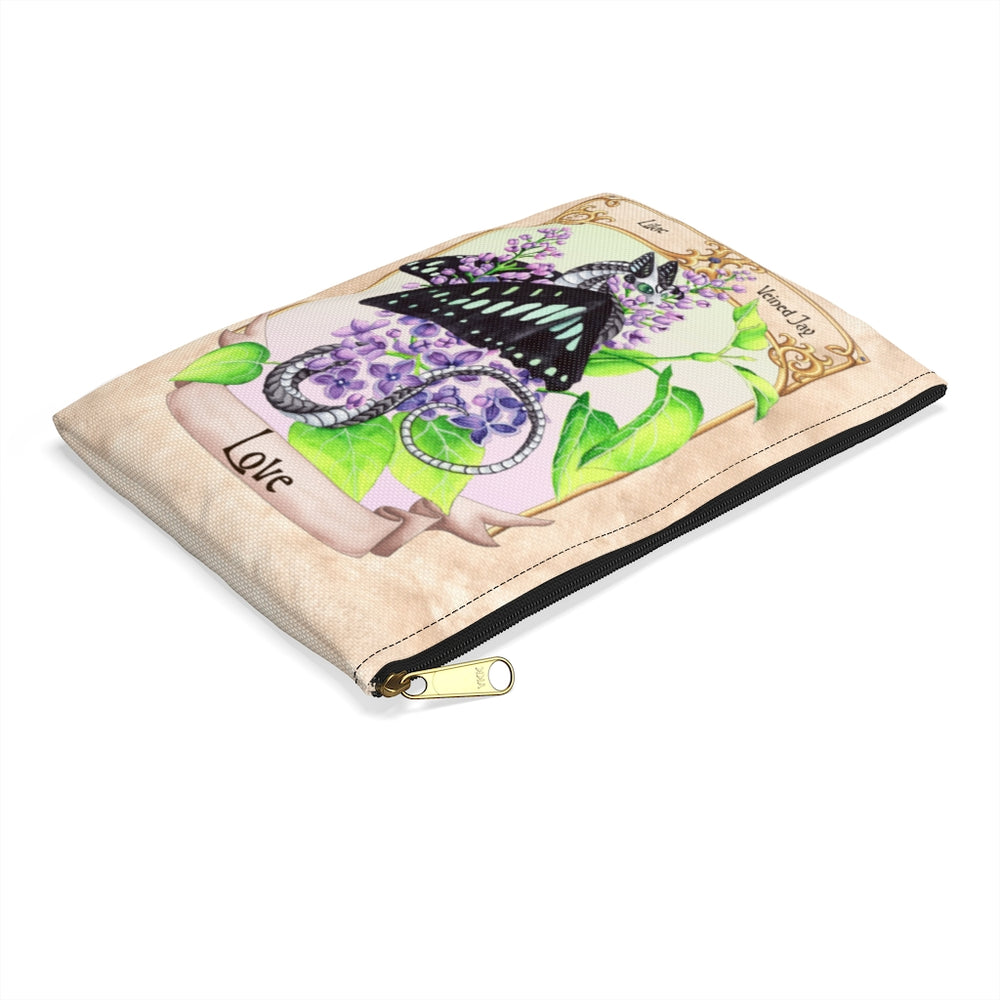 Load image into Gallery viewer, Enchanted Blossoms: Love Dragon Accessory Pouch
