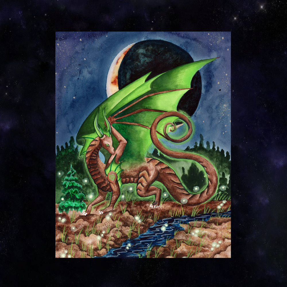 Load image into Gallery viewer, Dragon Oracle: Earth Water Dragon Giclée Print