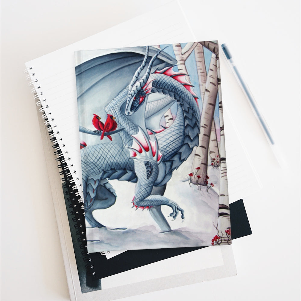 Load image into Gallery viewer, Lady of the Forest Snow Dragon Unlined Journal