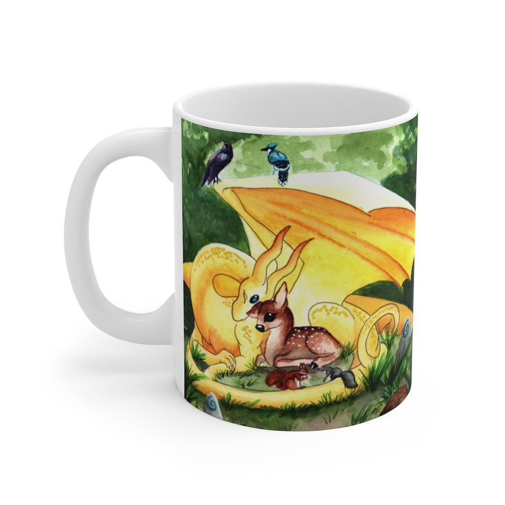Dragon Oracle: Sunshine Yellow Dragon 11oz Mug