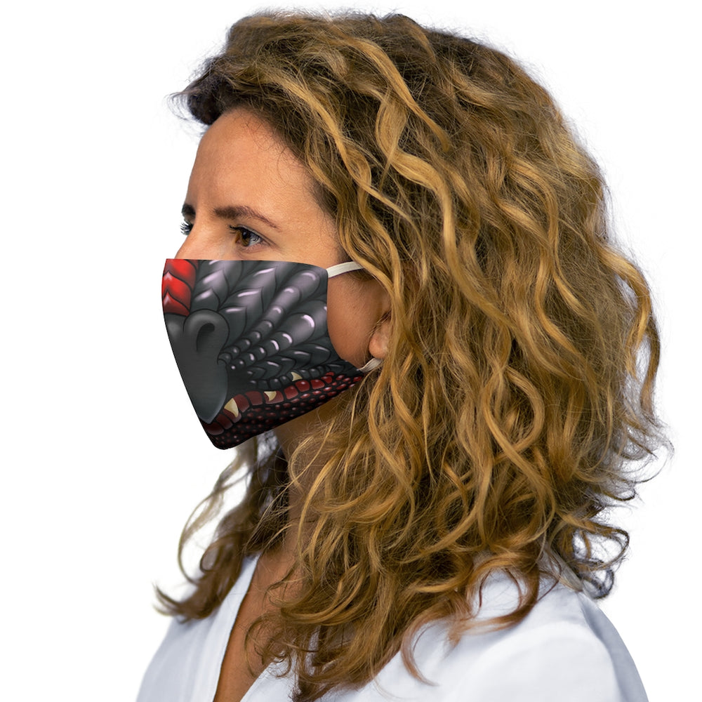 Load image into Gallery viewer, Black and Red Two Color Dragon Snout Snug-Fit Polyester Face Mask