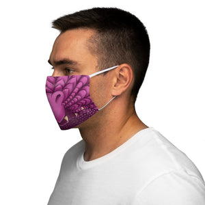 Load image into Gallery viewer, Pink Dragon Snout Snug-Fit Polyester Face Mask