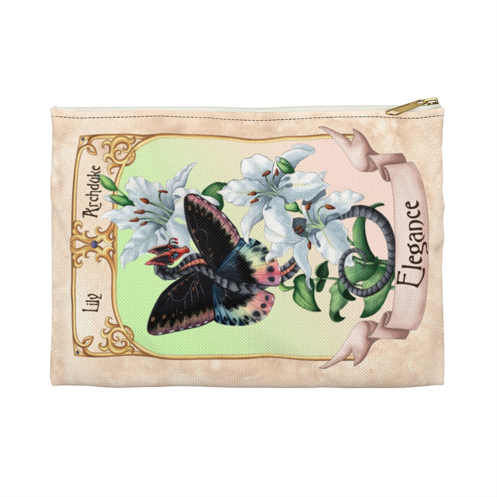 Enchanted Blossoms: Elegance Dragon Accessory Pouch