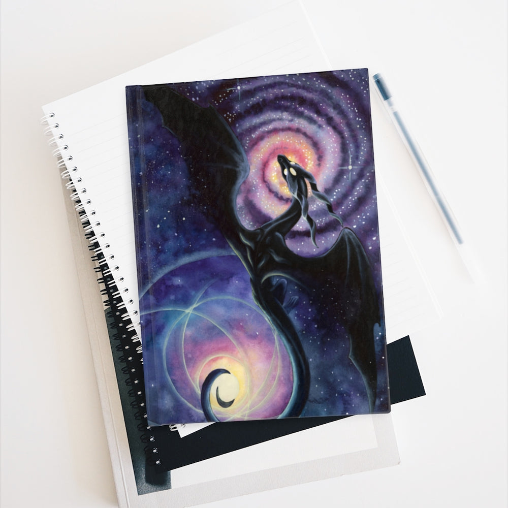 Load image into Gallery viewer, Mistress of Infinity Black Dragon Unlined Journal