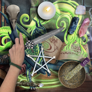 Load image into Gallery viewer, Summoning Dragons Tarot Wrap/Altar Cloth