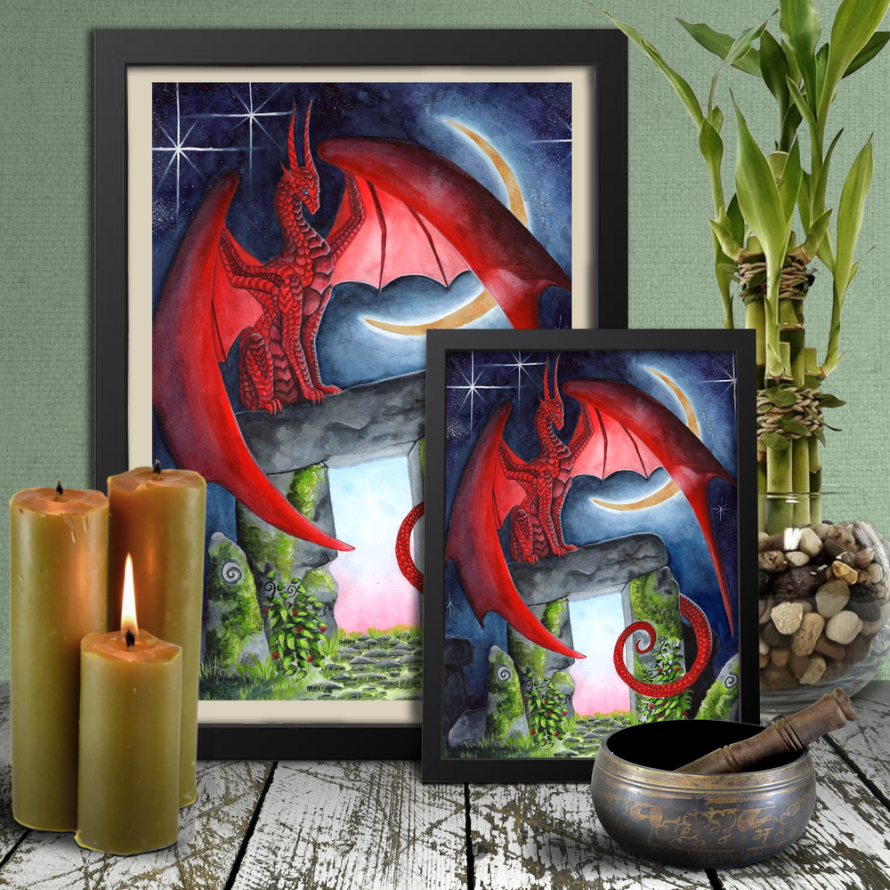 Load image into Gallery viewer, Watcher of the Gateway of Morning Giclée Prints