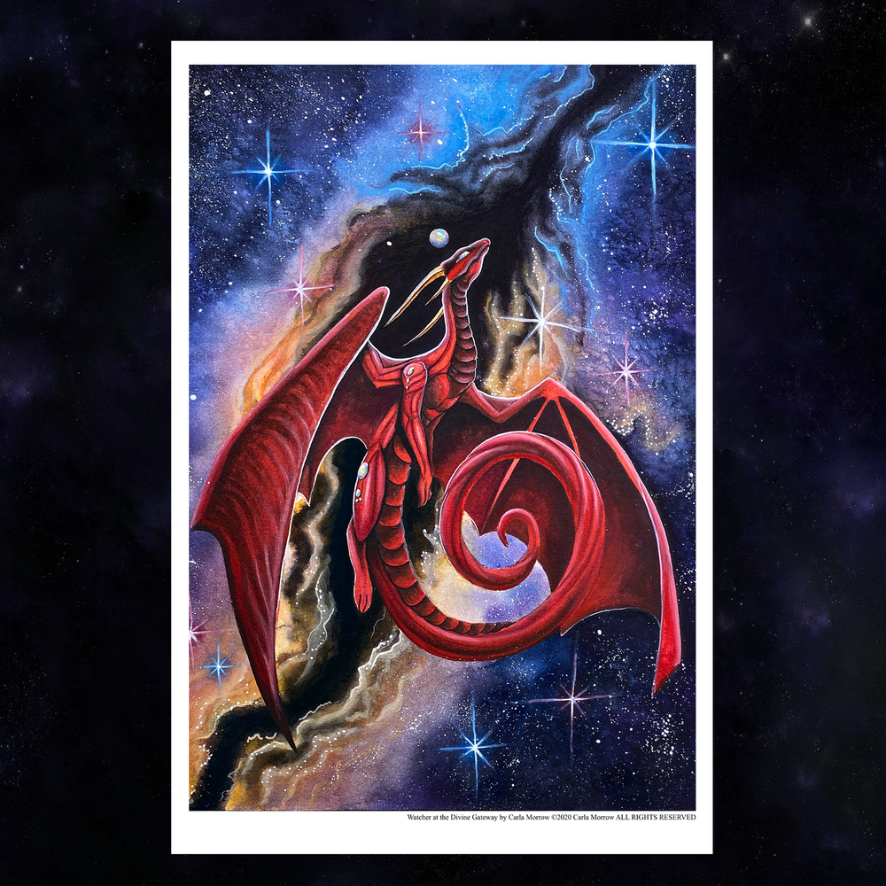 Load image into Gallery viewer, Watcher of the Divine Gateway Giclée Prints