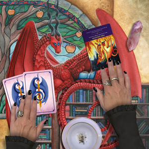 Load image into Gallery viewer, Watcher at the Gateway of Knowledge Tarot Wrap/Altar Cloth