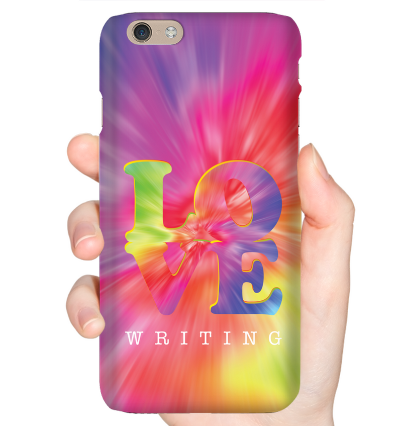LOVE WRITING phone case